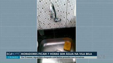 Moradores reclamam de falta de água na Vila Bela, em Guarapuava - E quando a água volta, o volume é pequeno saindo das torneiras. Após contato com a reportagem, Sanepar enviou técnico para resolver o problema.