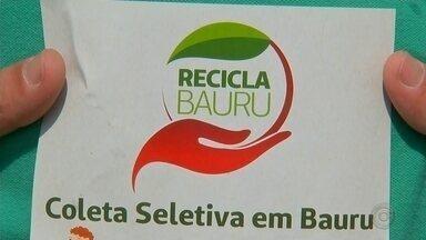 Segunda etapa do projeto Recicla Bauru começa neste sábado - O projeto tem como objetivo conscientizar a população para adotar hábitos sustentáveis e fazer a separação de materiais recicláveis.