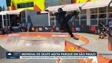 Mundial de Skate Park agita São Paulo - Japonesa venceu entre as mulheres. Final masculina será no domingo (15).