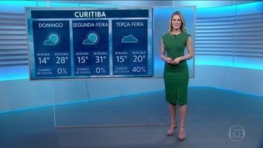 Veja a previsão do tempo para domingo (15) no Brasil - Tempo seco no Centro-Oeste e Nordeste.