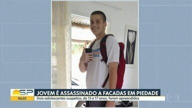 Jovem é assassinado a facadas em Piedade - Dois adolescentes suspeitos de participar do crime foram apreendidos.