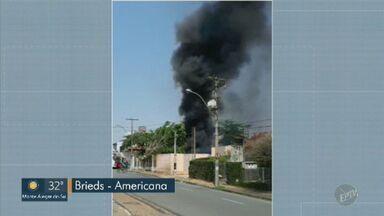 Empresa de reciclagem em Americana e duas áreas de mata em Campinas pegaram fogo domingo - Tempo seco dificulta trabalho de combate a incêndios na região.
