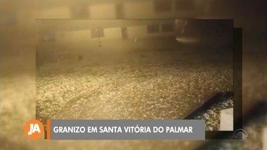 Mais de 200 casas são atingidas por granizo em Santa Vitória do Palmar - Assista ao vídeo.