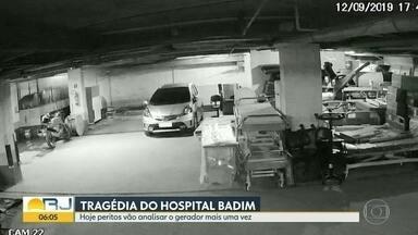 Peritos devem fazer nova análise em gerador do Hospital Badim - Nesta terça (17), peritos vão voltar ao hospital para analisar mais uma vez o gerador que deu início ao incêndio da última quinta (12). Durante a noite desta segunda (16), moradores dos prédio vizinhos levaram um susto.