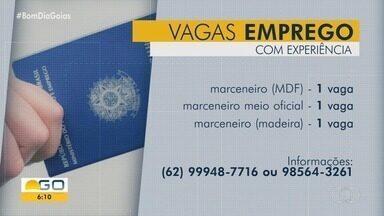Veja vagas de emprego abertas para Goiás - Empresa oferece três vagas para marceneiros.