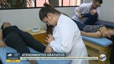 Faculdade de Campinas tem vagas para tratamento de fisioterapia e psicologia gratuitos - São cerca de 2 mil vagas por semestre; atendimento é imediato.