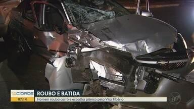 Homem é preso após roubo com vítima ferida e fuga na contramão em Ribeirão Preto - Mulher sofreu cortes nas mãos após ser rendida por assaltante no semáforo.