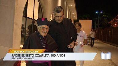 Padre de São José comemora 100 anos - Padre Ernesto é o mais velho da região e ainda está na ativa.