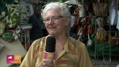 Dirce, a vovó mais doida do Brasil, vira 'Repórter por 1 dia' no Encontro - Ela faz reportagem sobre o trabalho na terceira idade