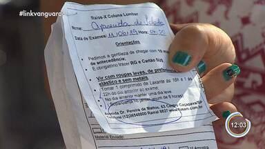 Pacientes da rede pública de saúde reclamam - Exames de sangue e raio-x demoram para serem feitos.
