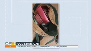 Sete vítimas procuram polícia para denunciar golpe de estelionatário - Nem sempre o homem mantinha um relacionamento amoroso com as vítimas. A suspeita é de que ele tenha conseguido lucrar 2 milhões de reais com os golpes.