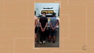 Suspeitos de assalto a um posto de gasolina são presos - Assista ao vídeo.
