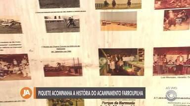 Piquete participa do Acampamento Farroupilha há 37 anos - Conheça o tradicional piquete.