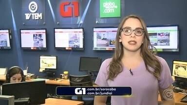 Confira os destaques do G1 com Caroline Andrade - Caroline Andrade traz os destaques do G1 Sorocaba (SP) e Jundiaí (SP) nesta terça-feira (17).