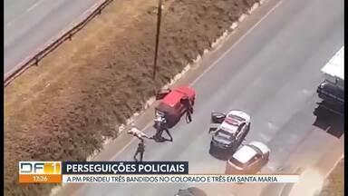 Perseguições policiais acabam com seis presos - Três homens foram presos em flagrante nessa segunda (16) no Colorado e três em Santa Maria, onde houve troca de tiros com a PM.