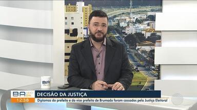 Diplomas de prefeito e vice prefeito de Brumado são cassados pela Justiça Eleitoral - A cassação ocorreu após decisão judicial que acatou denúncia do Ministério Público.