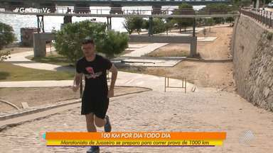 Juazeirense se prepara para maratona correndo 100Km todos os dias durantes dez dias - O atleta está na reta final de preparação para um ultramaratona de 1000Km. Confira.