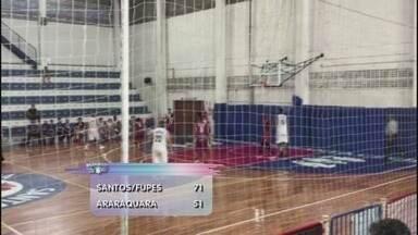Equipe santista de basquete vence o Araraquara e assume vice-liderança do Paulista - Jogando em casa, os santistas fizeram 71 a 51 nos adversários na partida válida pela Primeira Divisão do Campeonato Paulista.
