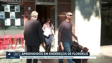 A polícia do Rio cumpriu mandados de prisão em endereços ligados à deputada Flordelis. - Houve buscas no Rio e em Brasília. Foram apreendidos três celulares, um laptop, um computador e documentos.