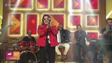Roberta Miranda canta 'Vai com Deus' - Música abre o Encontro desta sexta-feira