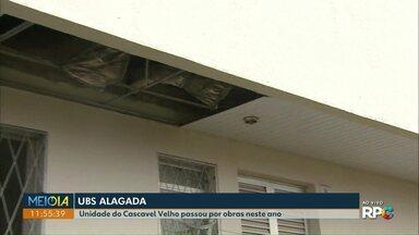 Telespectadores reclamam de problemas em postos de saúde de Cascavel - Na USF do Cascavel Velho, a chuva alagou o consultório odontológico e na USF do Floresta, o problema está no banheiro.