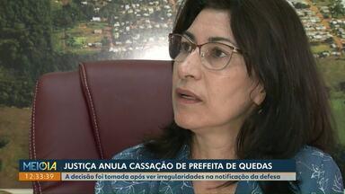 Justiça anula cassação de prefeita de Quedas do Iguaçu - A decisão foi tomada após ver irregularidades na notificação da defesa.