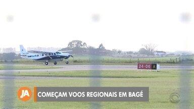 Começam voos regionais entre Bagé e Porto Alegre - Primeiro voo da empresa Two Flex foi na manhã desta sexta (20) no aeroporto de Bagé.