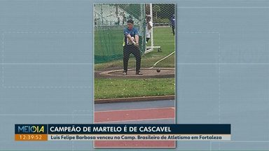 Morador de Cascavel é campeão brasileiro de arremesso de martelo - Luis Felipe Barbosa é de família de esportistas e coleciona troféus e medalhas na modalidade pouco valorizada.