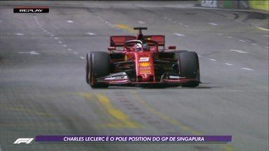Charle Leclerc faz volta mais rápida e garante a pole no GP de Singapura - Charle Leclerc faz volta mais rápida e garante a pole no GP de Singapura