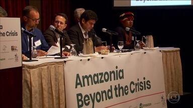Em NY, eventos paralelos discutem situação da floresta amazônica - Índios, empresários do agronegócio, ambientalistas e cientistas se reuniram para debater economia, meio ambiente e direitos humanos na Amazônia.