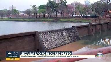 Nível da represa, em São José do Rio Preto, preocupa os moradores - Em menos de 24 horas, foram 12 centímetros a menos no reservatório que abastece cerca de 25% da população da cidade.