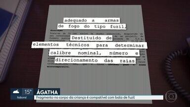 Fragmento no corpo da menina Ágatha é compatível com uma bala de fuzil - Os pais da menina prestaram depoimento nesta quarta (25) na Delegacia de Homicídios.