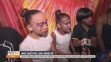 MG Móvel conhece a Associação Sol Nascente, em Ibirité - Crianças, adolescentes e adultos participam de várias atividades artísticas e educativas.