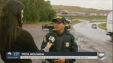 Polícia Rodoviária Federal dá dicas de segurança para dirigir com pista molhada - Polícia Rodoviária Federal dá dicas de segurança para dirigir com pista molhada