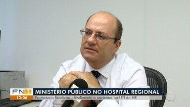 MPE realiza fiscalização no Hospital Regional de Presidente Prudente - Promotor verificou encaminhamento de pacientes para a UTI do HR.