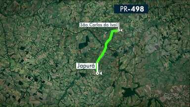 Motoristas reclamam da situação da pista da PR-498 na região de Cianorte - Em nota o DER disse que a pista vai passar por recapeamento, mas não tem data prevista.