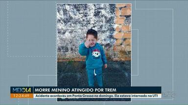 Morre menino de 4 anos atingido por trem - A família fez a doação dos órgãos da criança.