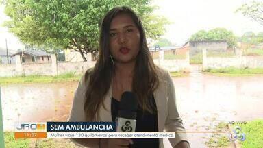 Sem Ambulancha: Mulher viaja 130 km para receber atendimento médico - Sem Ambulancha: Mulher viaja 130 km para receber atendimento médico