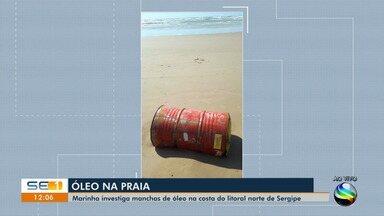 Marinha encontra tonéis em praias de Sergipe - Marinha encontra tonéis em praias de Sergipe.