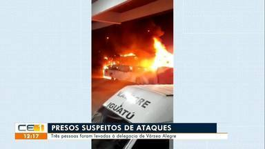Três pessoas detidas em Várzea Alegre suspeitas de participar de ataques - Saiba mais no g1.com.br/ce