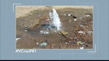#VCnoJPB1 : flagrante de desperdício de água em João Pessoa - Edson flagrou o desperdício de água na Rua Leonildo de Sousa Ferreira.