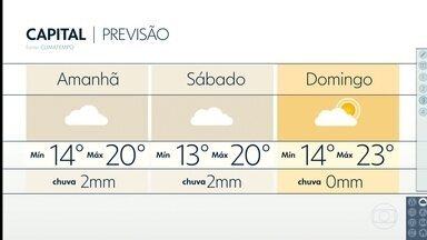 Fim de semana com temperaturas em baixa - Na sexta-feira, a mínima deve ser de 14 graus e no sábado só de 13 graus