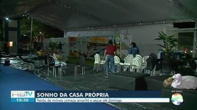 Feirão de imóveis é realizado até domingo (29) em Caruaru - Evento acontece perto da Estação Ferroviária.