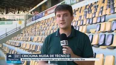 Criciúma anuncia Roberto Cavalo como novo treinador; Avaí enfrenta o Grêmio - Criciúma anuncia Roberto Cavalo como novo treinador; Avaí enfrenta o Grêmio