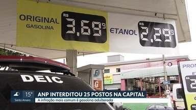 ANP interdita 62 postos de gasolina em SP - Operação fiscalizou mais de 1400 pontos de venda entre janeiro e julho e aplicou 313 multas.