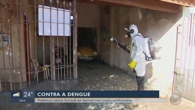 Fumacê é arma de combate ao aumento dos casos de dengue em Varginha (MG) - Fumacê é arma de combate ao aumento dos casos de dengue em Varginha (MG)