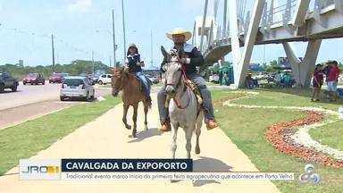 Cavalgada movimenta a abertura da ExpoPorto - É a primeira edição do evento em Porto Velho.