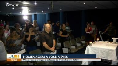 Auditório da TV Liberal recebe celebração da missa de 7º dia da morte de José Neves - Repórter morreu de infecção pulmonar em hospital de Belém