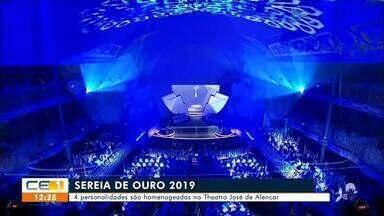 Personalidades cearenses são homenageadas com o troféu Sereia de Ouro 2019 - Saiba mais em g1.com.br/ce
