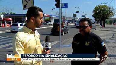 Semáforos foram instalados em Juazeiro do Norte, mas ainda não estão funcionando - Saiba mais em g1.com.br/ce